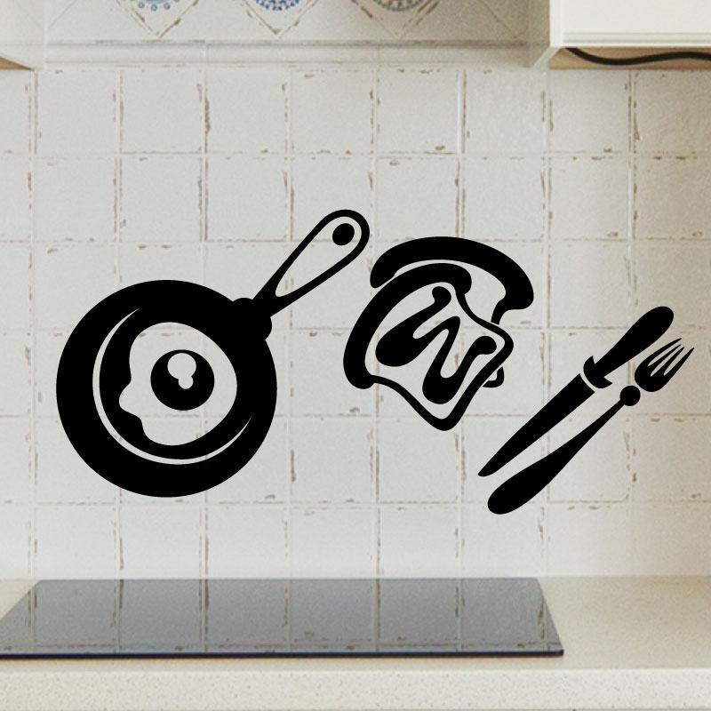 Stickers muraux pour la cuisine sticker d jeuner - Stickers pour la cuisine ...