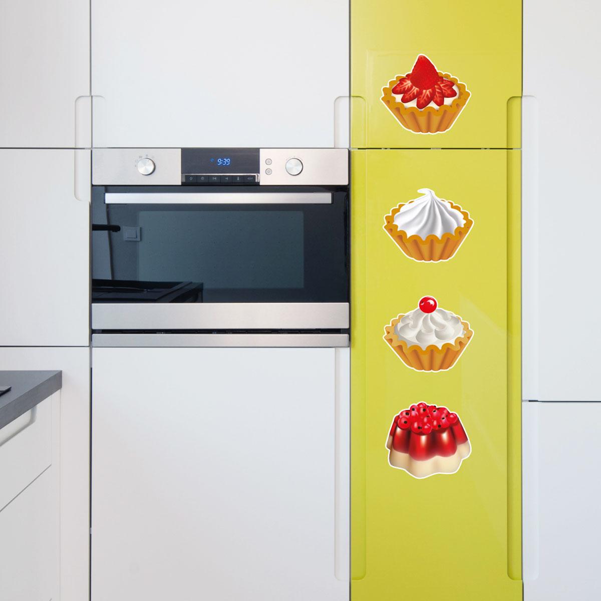 Stickers muraux pour la cuisine sticker ensemble de 4 - Stickers pour la cuisine ...