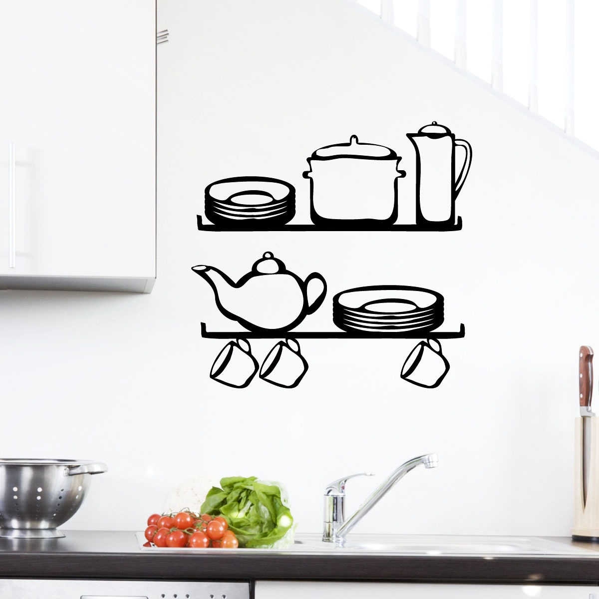 Stickers Muraux Pour La Cuisine Sticker Tag Re 2