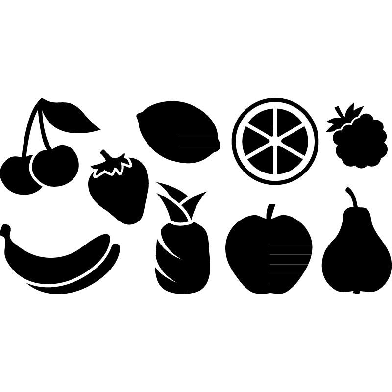 stickers muraux pour la cuisine sticker fruits 1 ambiance. Black Bedroom Furniture Sets. Home Design Ideas