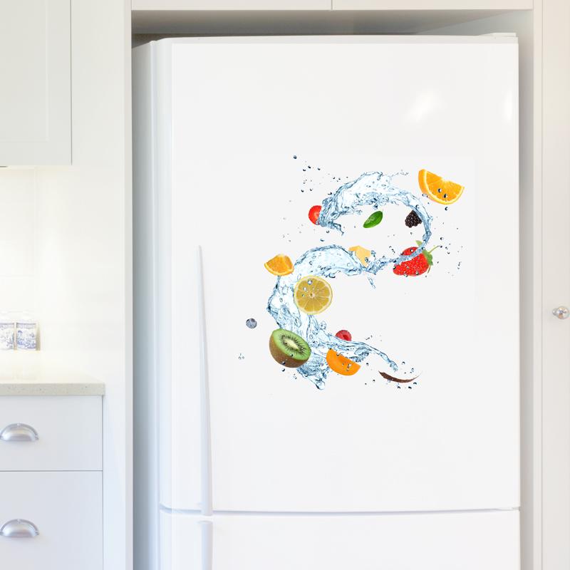 Stickers muraux pour r frig rateur sticker fruits et eau - Stickers pour refrigerateur ...