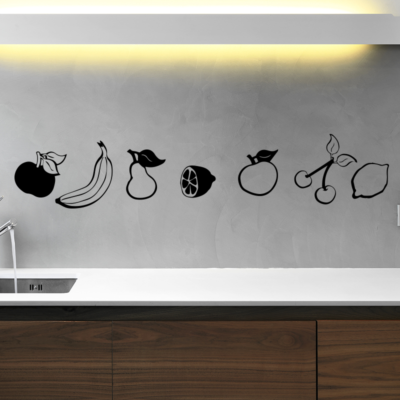 Stickers muraux pour la cuisine sticker fruits et - Stickers pour la cuisine ...