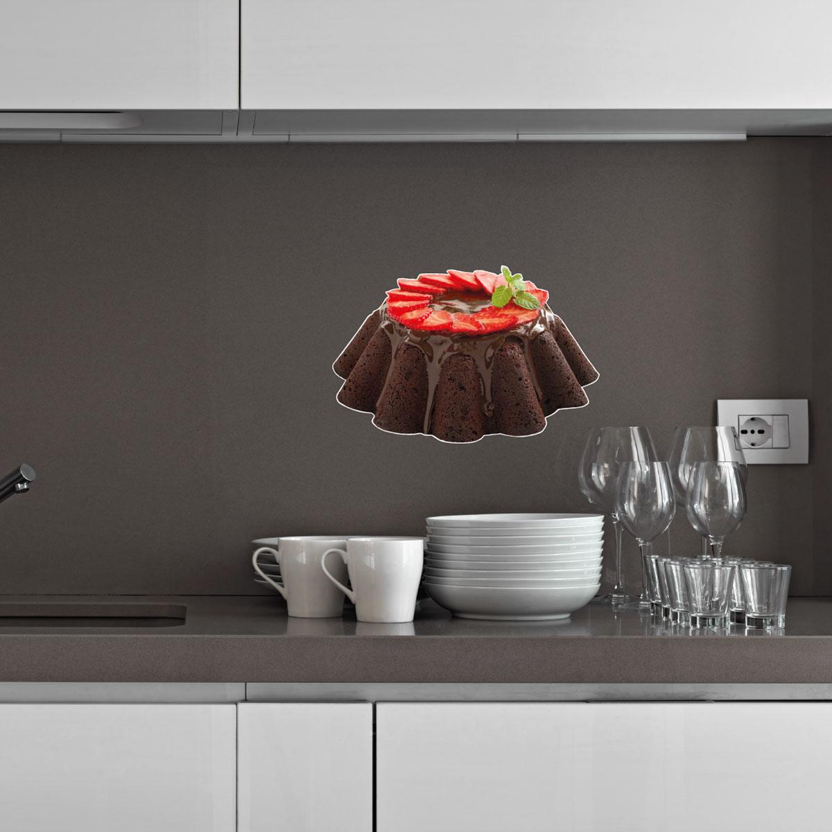 stickers muraux pour la cuisine sticker g teau de. Black Bedroom Furniture Sets. Home Design Ideas