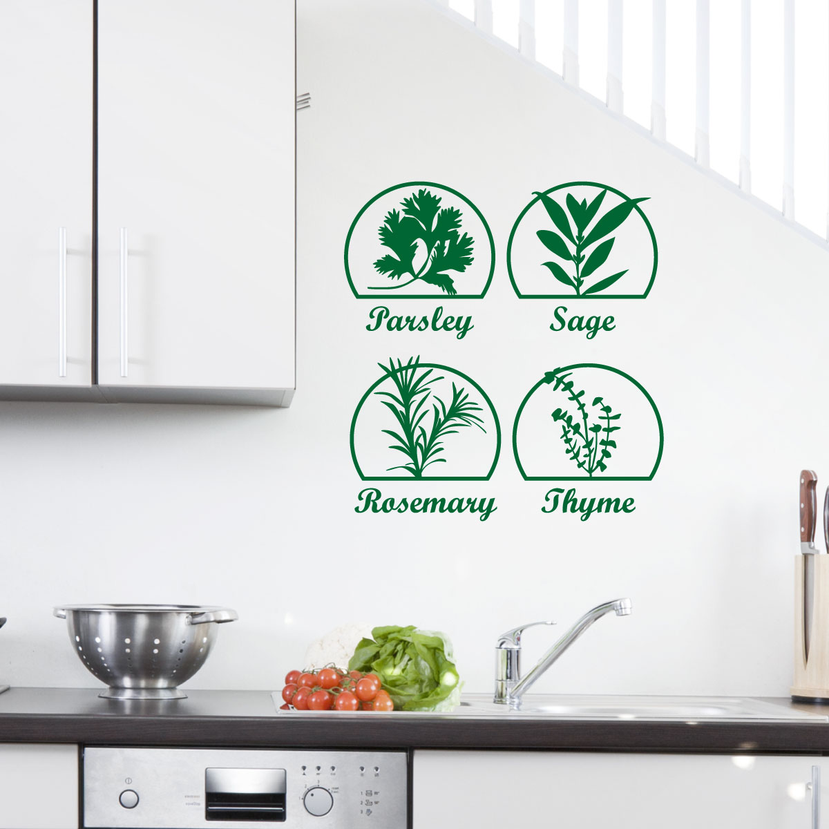 stickers muraux pour la cuisine sticker herbes 2. Black Bedroom Furniture Sets. Home Design Ideas