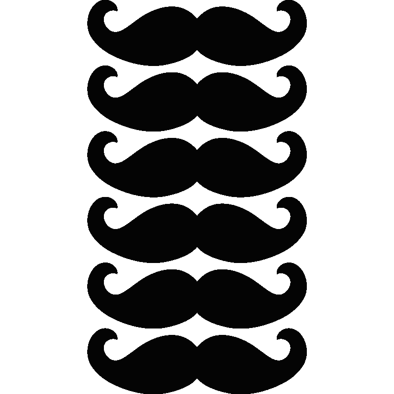 stickers muraux pour la cuisine sticker moustache 1 ambiance. Black Bedroom Furniture Sets. Home Design Ideas