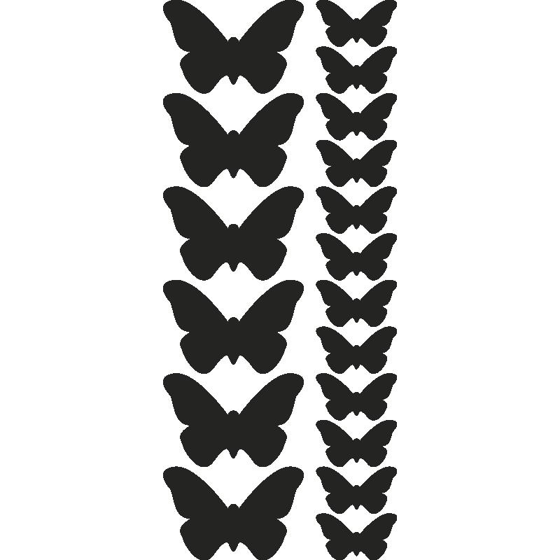 stickers muraux pour la cuisine sticker papillons ambiance. Black Bedroom Furniture Sets. Home Design Ideas
