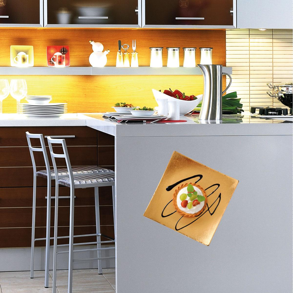 Stickers muraux pour la cuisine sticker plaque avec une - Stickers pour la cuisine ...