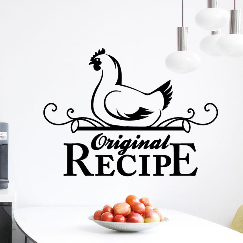stickers muraux pour la cuisine sticker recette originale ambiance. Black Bedroom Furniture Sets. Home Design Ideas