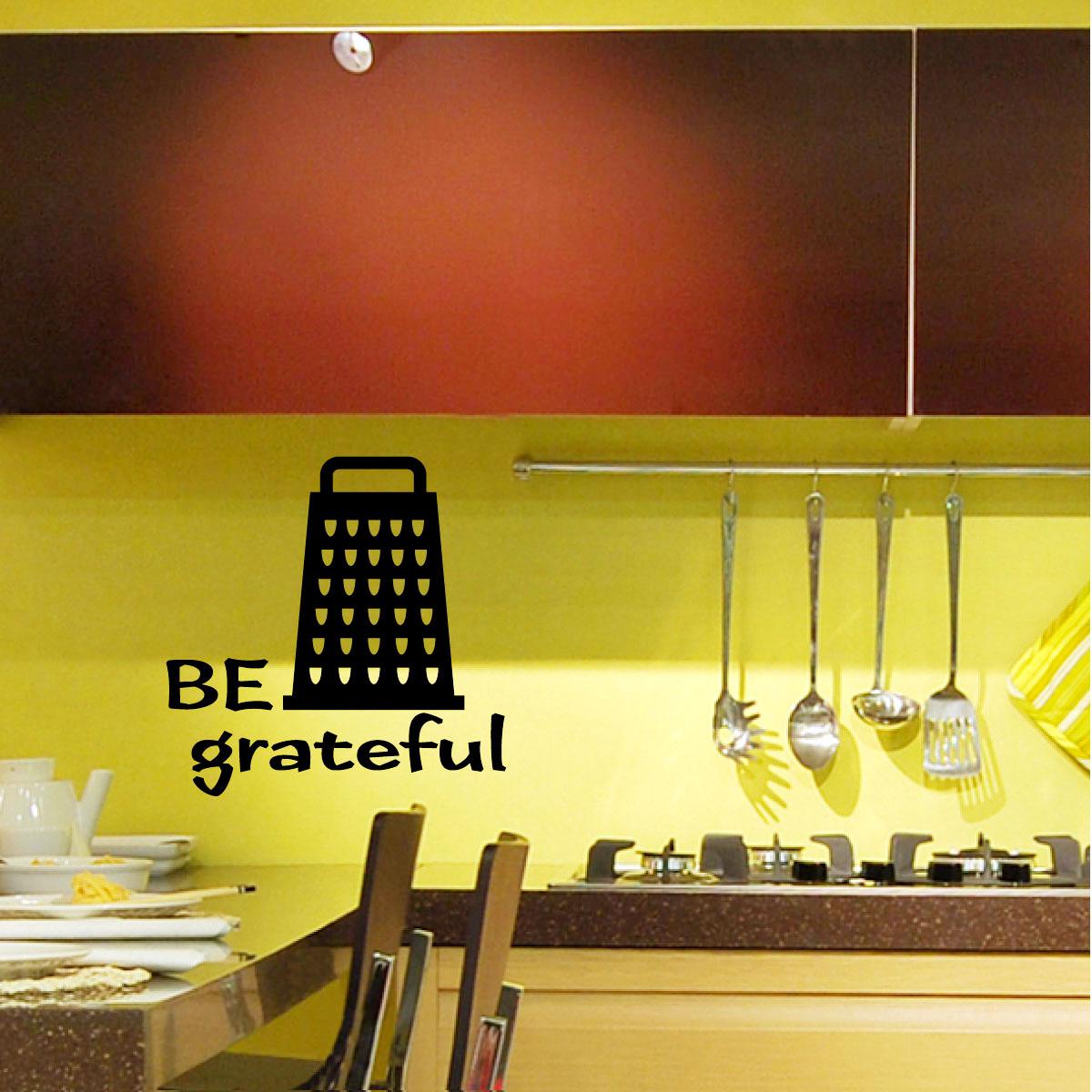 stickers muraux pour la cuisine sticker soyez reconnaissants ambiance. Black Bedroom Furniture Sets. Home Design Ideas