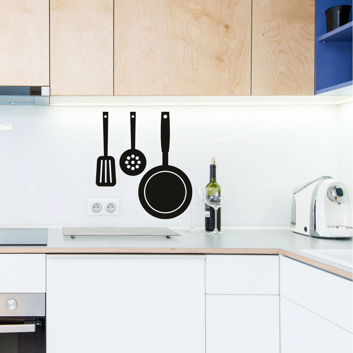 porte casserole suspendu chaudron casserole teck teak pan vintage retro mid century us porte. Black Bedroom Furniture Sets. Home Design Ideas