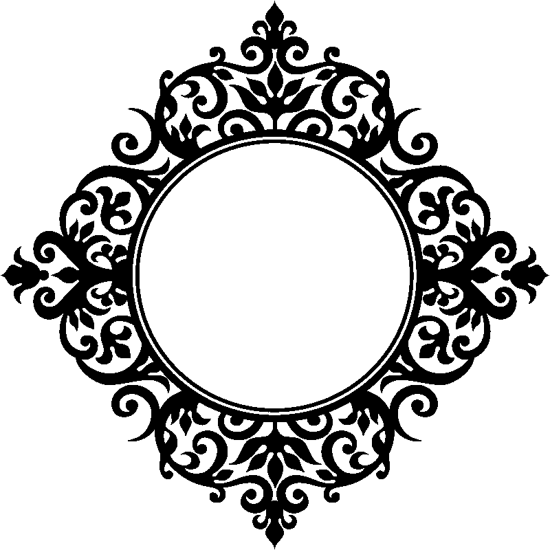 Sticker design baroque miroir stickers art et design for Stickers miroir