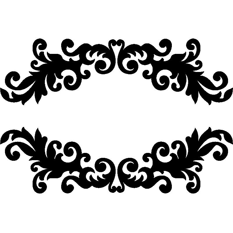 sticker design baroque moderne stickers art et design baroque ambiance sticker. Black Bedroom Furniture Sets. Home Design Ideas