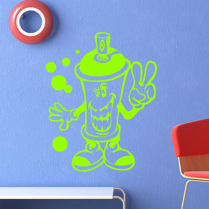 Sticker Design Bombe Spray Peace Stickers Stickers Enfants Smileys Ambiance Sticker