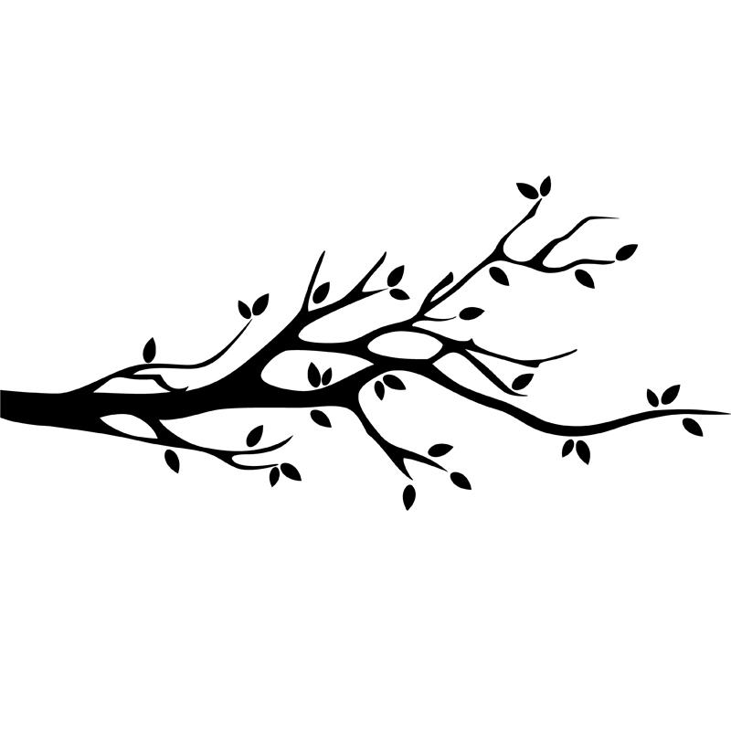 stickers muraux fleurs sticker design branche d 39 arbre ambiance. Black Bedroom Furniture Sets. Home Design Ideas