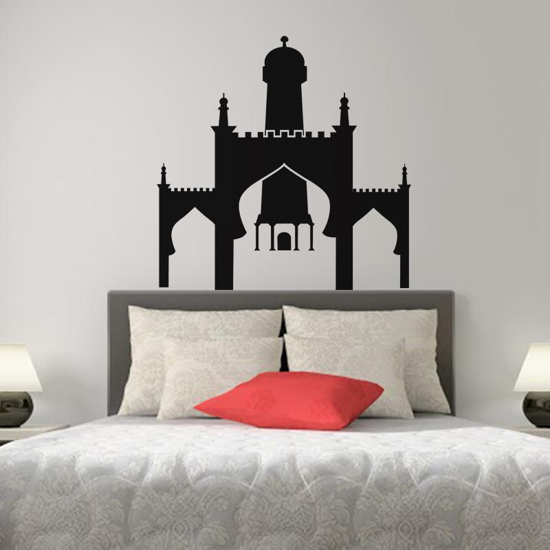 sticker design ch teau oriental stickers chambre t tes. Black Bedroom Furniture Sets. Home Design Ideas