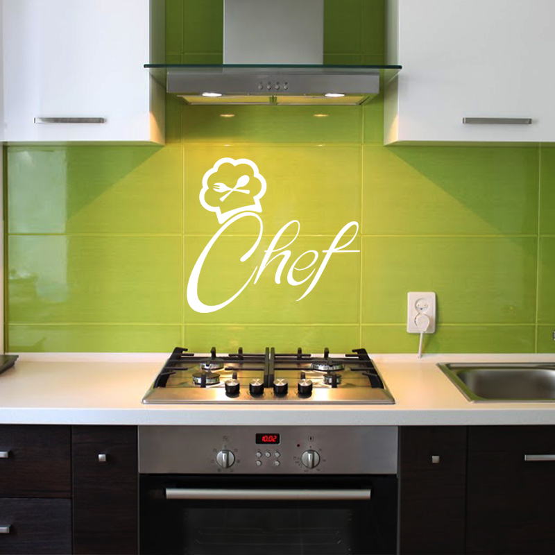 sticker design chef de cuisine stickers citations fran ais ambiance sticker. Black Bedroom Furniture Sets. Home Design Ideas
