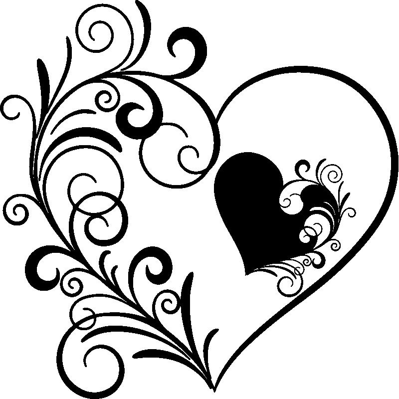 Sticker design coeur florissant – Stickers Chambre Amour ...