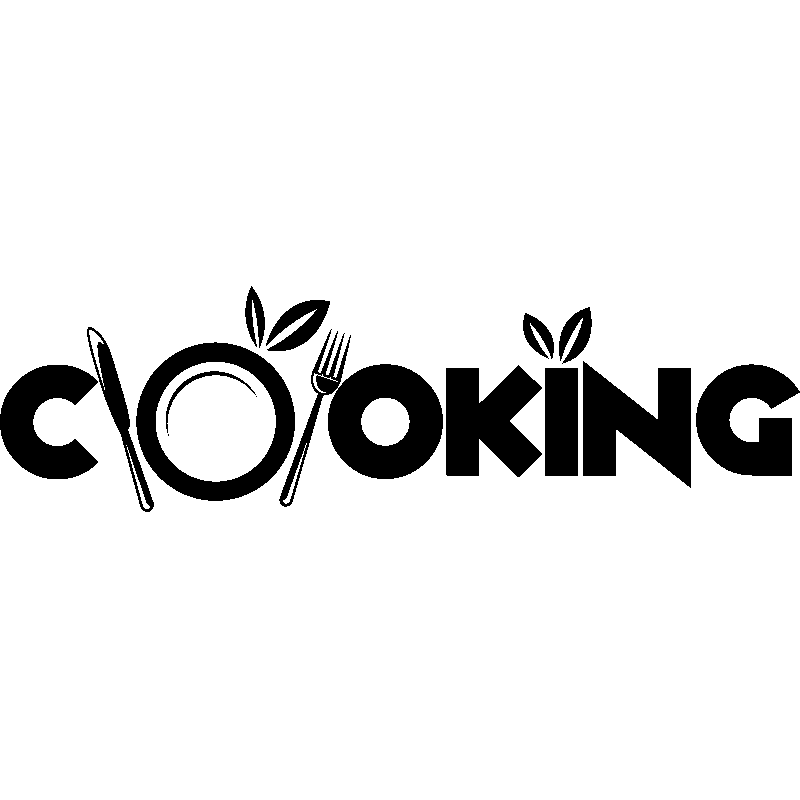 sticker design cooking stickers cuisine textes et recettes ambiance sticker. Black Bedroom Furniture Sets. Home Design Ideas