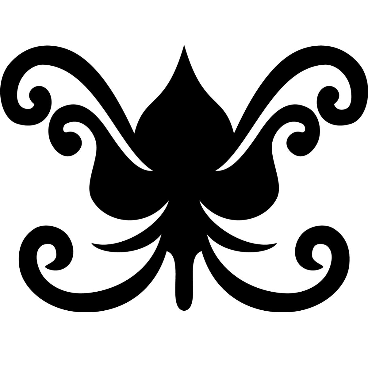 stickers muraux design sticker design fleur de lys ambiance. Black Bedroom Furniture Sets. Home Design Ideas