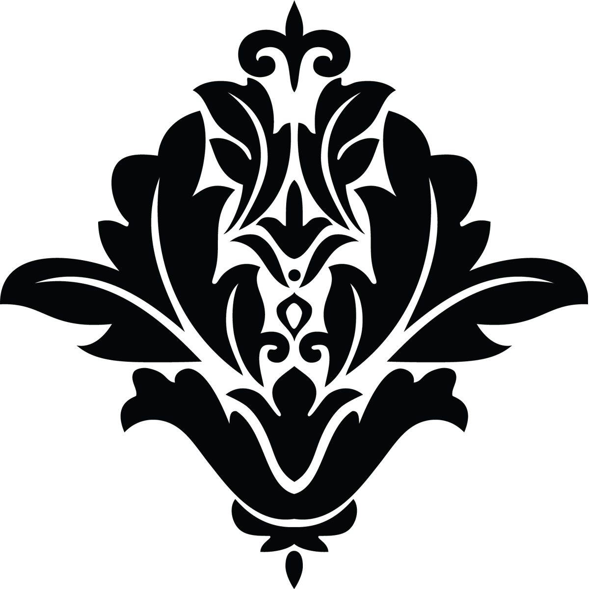 stickers muraux design sticker mural design fleur monochrome ambiance. Black Bedroom Furniture Sets. Home Design Ideas