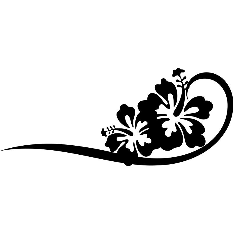 sticker design fleurs artistiques nature fleurs. Black Bedroom Furniture Sets. Home Design Ideas