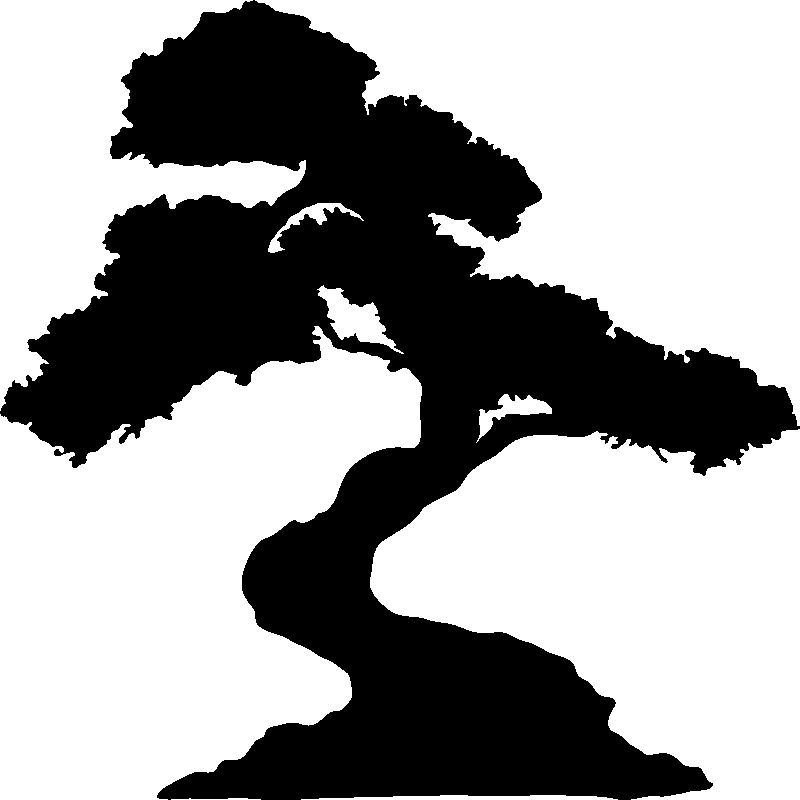 Sticker design grand arbre bonsa stickers nature arbres - Dessin bonzai ...