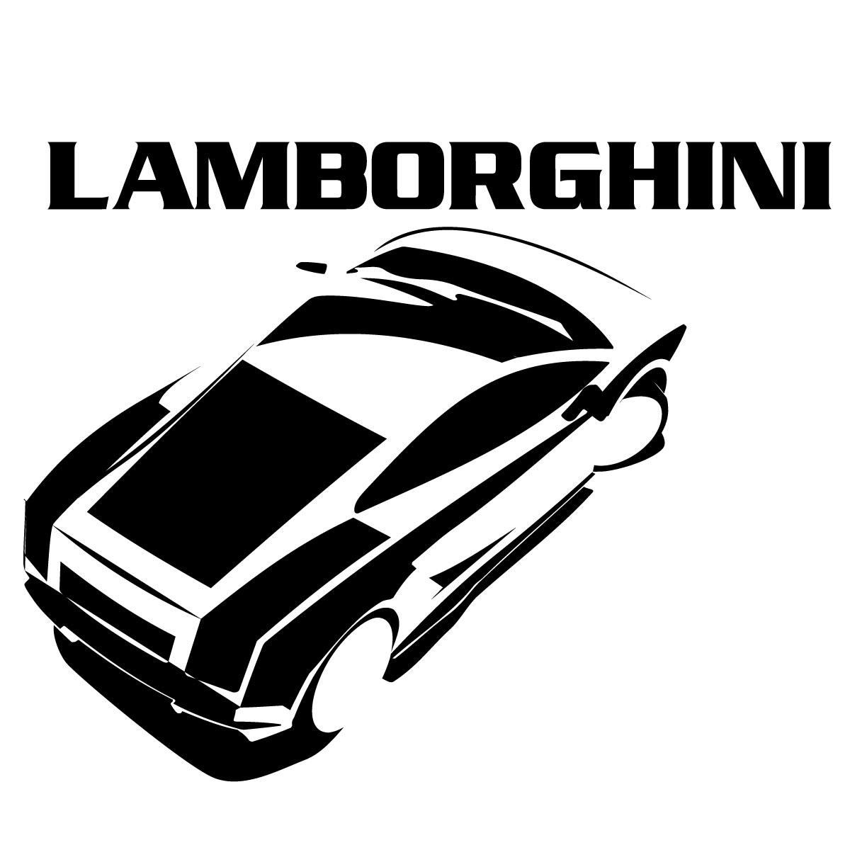 sticker design lamborghini stickers sports et football autres sports ambiance sticker. Black Bedroom Furniture Sets. Home Design Ideas