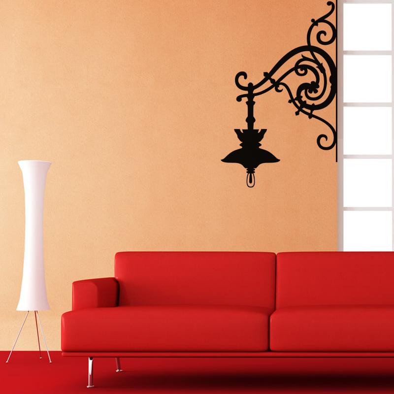 sticker design lampe murale stickers art et design baroque ambiance sticker. Black Bedroom Furniture Sets. Home Design Ideas