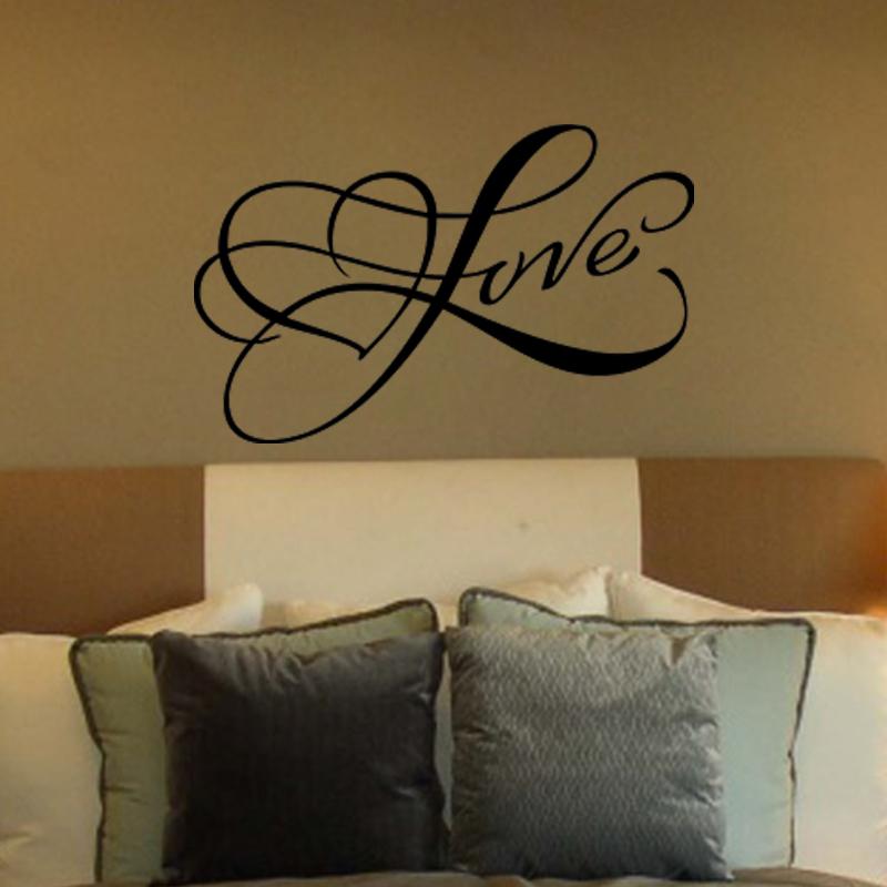 Stickers muraux pour chambre sticker mural design love for Stickers chambre love