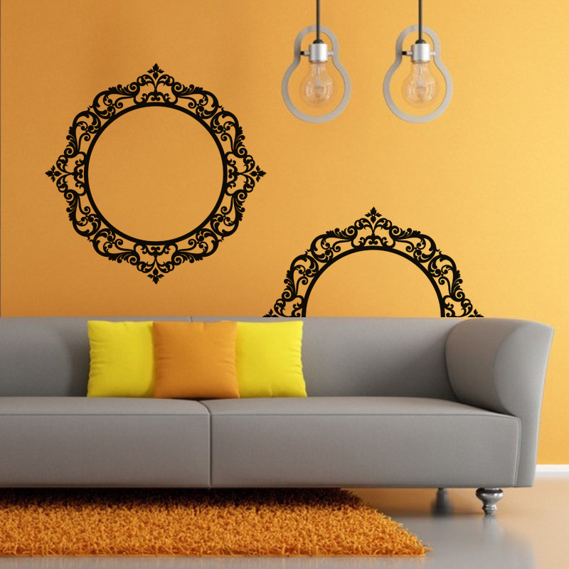 stickers muraux baroque sticker design mirroir. Black Bedroom Furniture Sets. Home Design Ideas