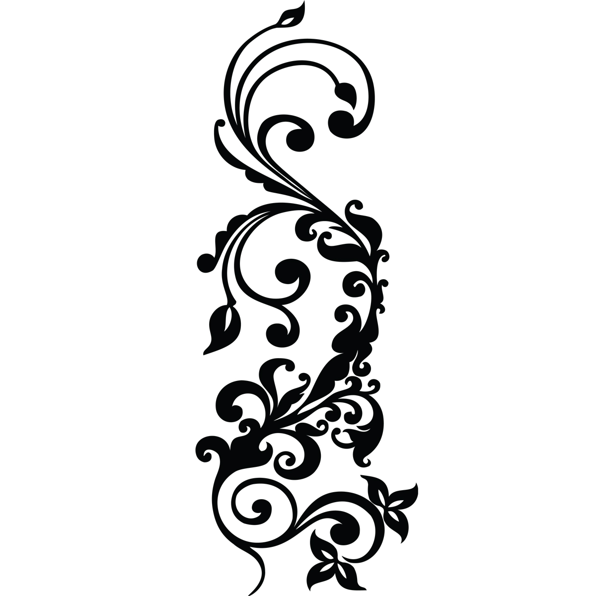 stickers muraux design sticker mural design moderne fleuri ambiance. Black Bedroom Furniture Sets. Home Design Ideas