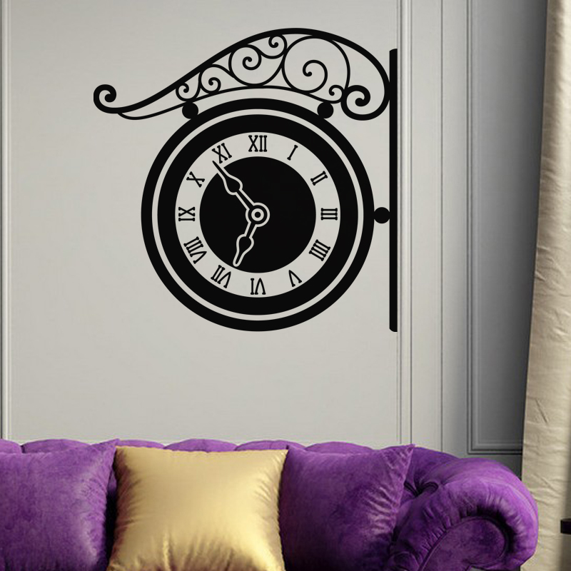 sticker design montre murale stickers villes et voyages paris ambiance sticker. Black Bedroom Furniture Sets. Home Design Ideas