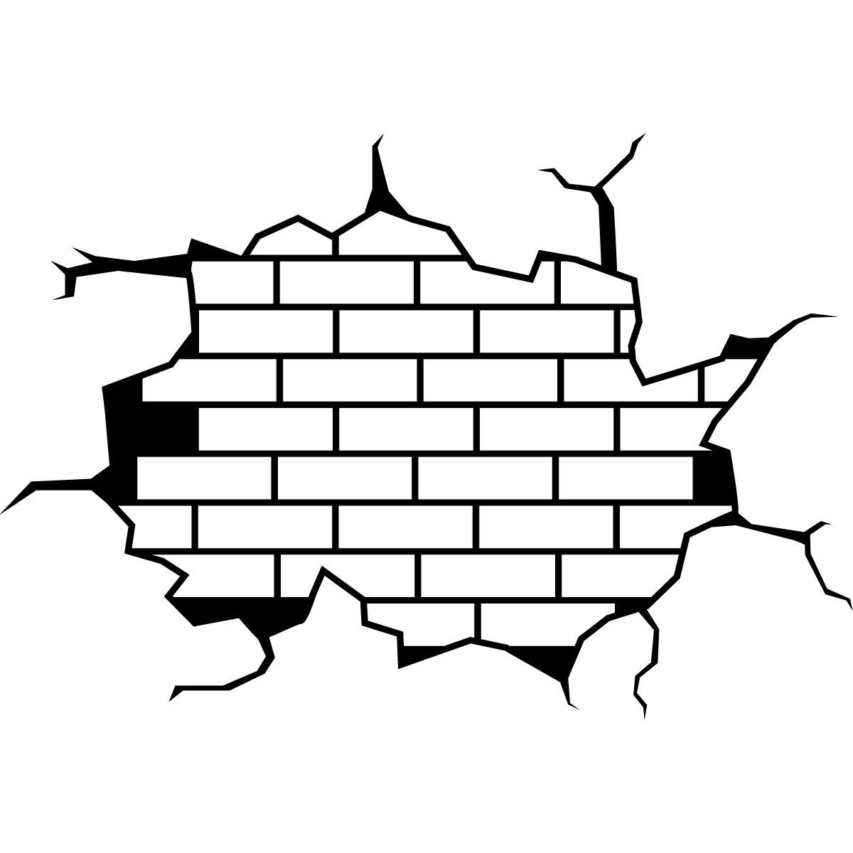 sticker design mur en briques stickers art et design vintage ambiance sticker. Black Bedroom Furniture Sets. Home Design Ideas