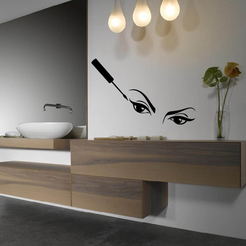 stickers muraux pour salle de bain sticker design regards ambiance. Black Bedroom Furniture Sets. Home Design Ideas