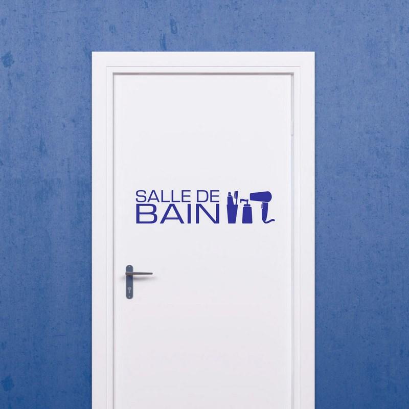 Sticker Design salle de bain accessoires - Stickers Portes Salle de ...