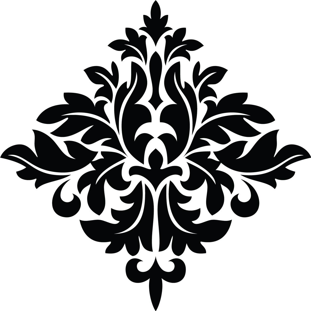 stickers muraux design sticker mural design tribal fleur ambiance. Black Bedroom Furniture Sets. Home Design Ideas