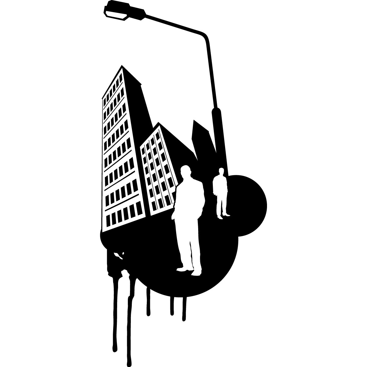 stickers muraux pays et villes sticker design urbain 2 ambiance. Black Bedroom Furniture Sets. Home Design Ideas