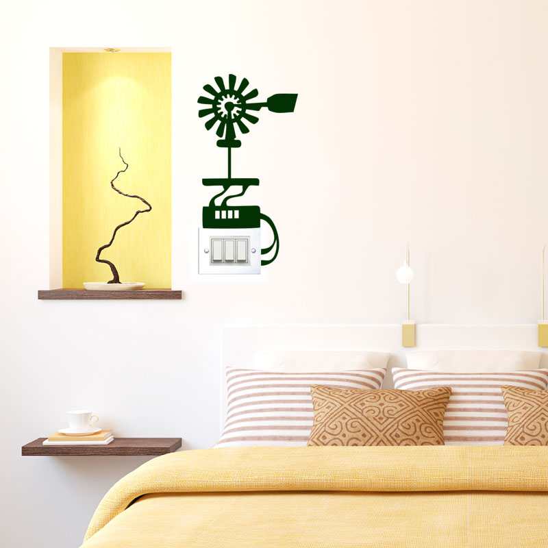 sticker design ventilateur stickers mini stickers fun ambiance sticker. Black Bedroom Furniture Sets. Home Design Ideas
