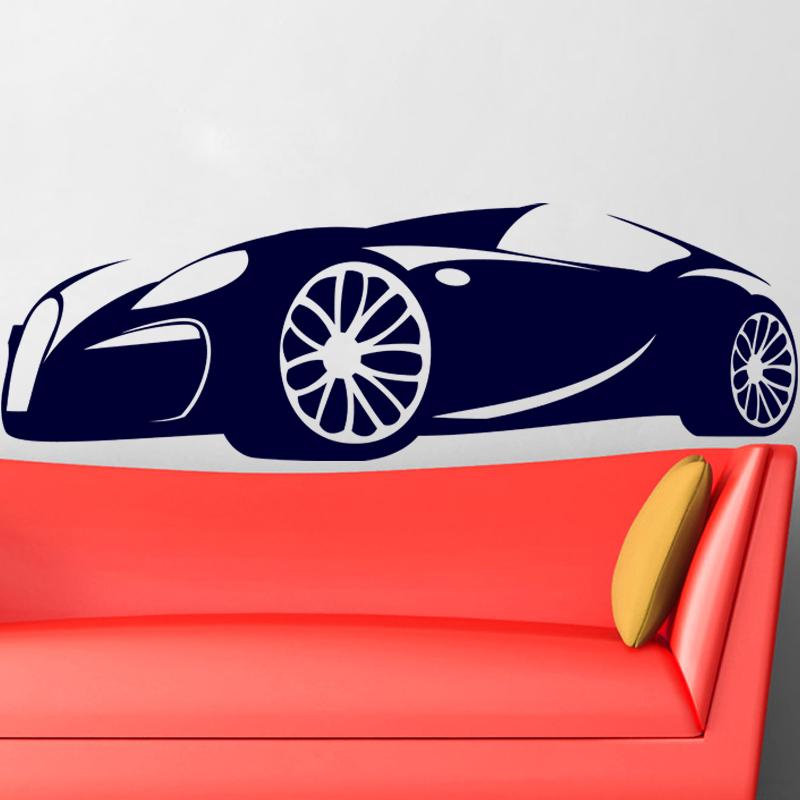 Sticker design voiture de luxe stickers chambre ado gar on ambiance sticker - Stickers voiture chambre garcon ...