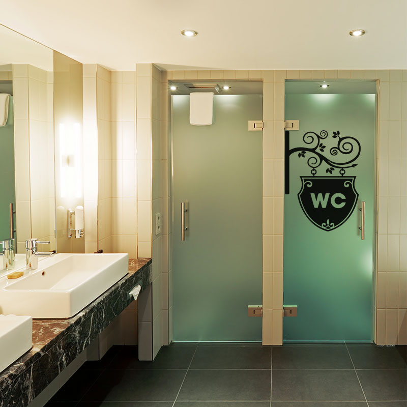 sticker design wc orn stickers salle de bain et wc. Black Bedroom Furniture Sets. Home Design Ideas