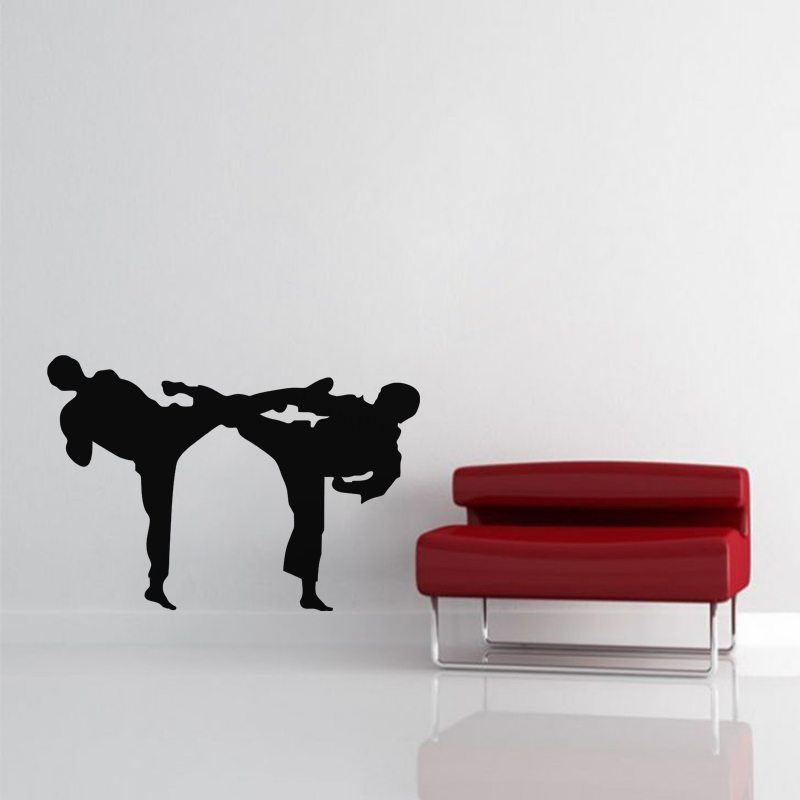 Stickers sport et football sticker deux karat kas for Decoration chambre karate
