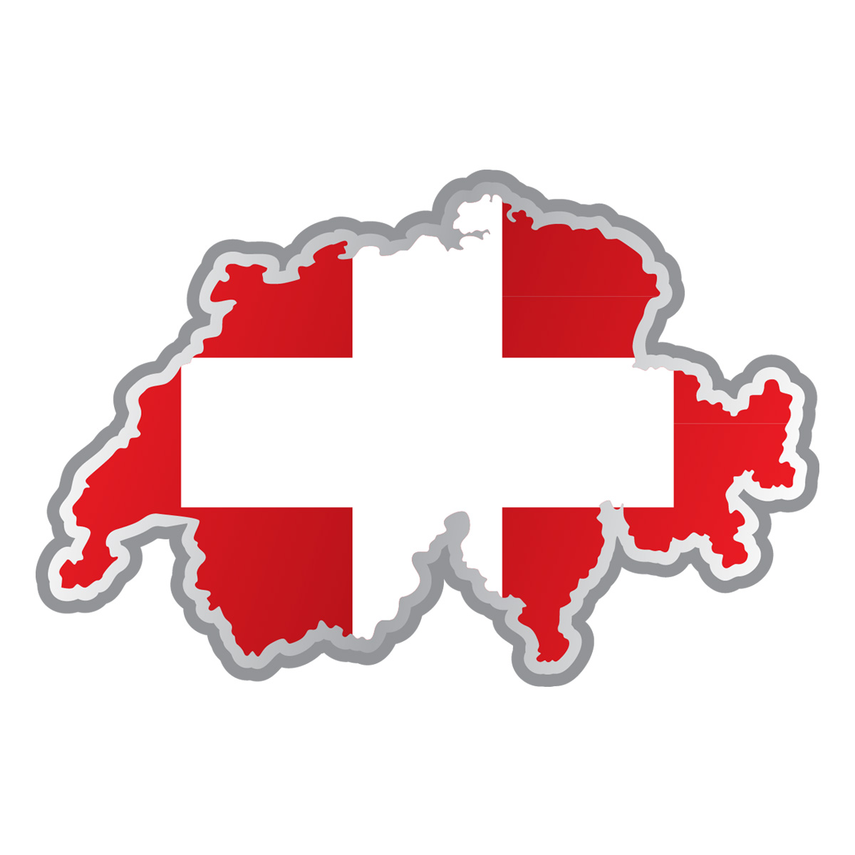 Stickers et autocollants voiture sticker drapeau suisse for Interieursuisse stellen