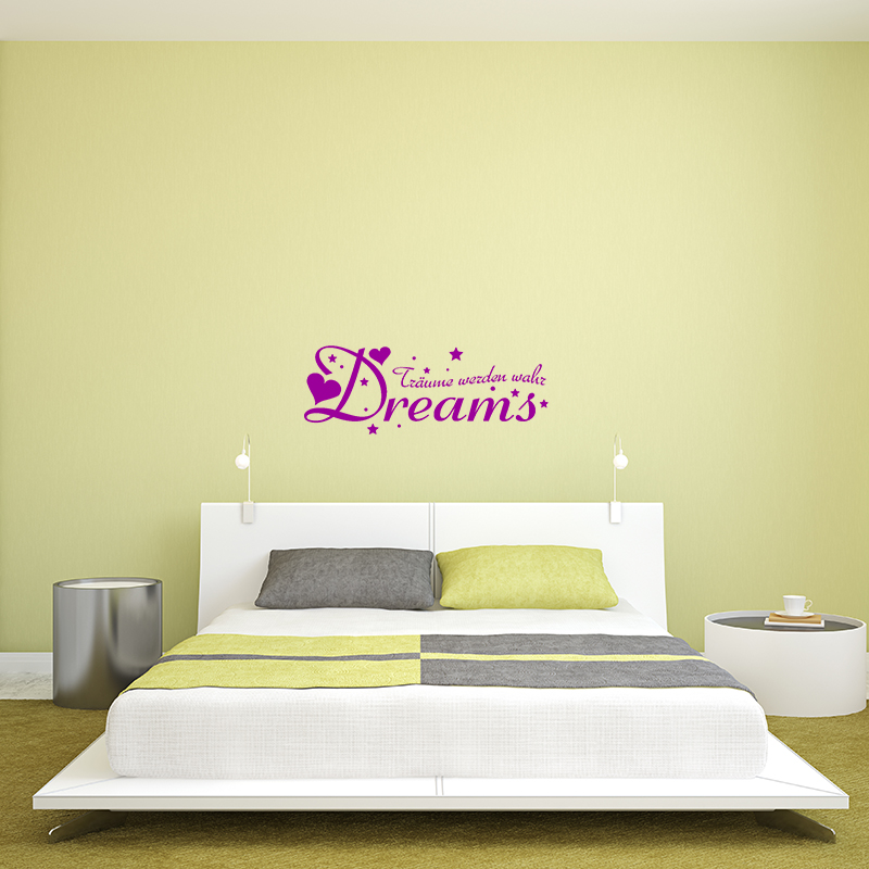 Sticker dreams traume werden stickers citations allemand - Colores para pintar dormitorios ...