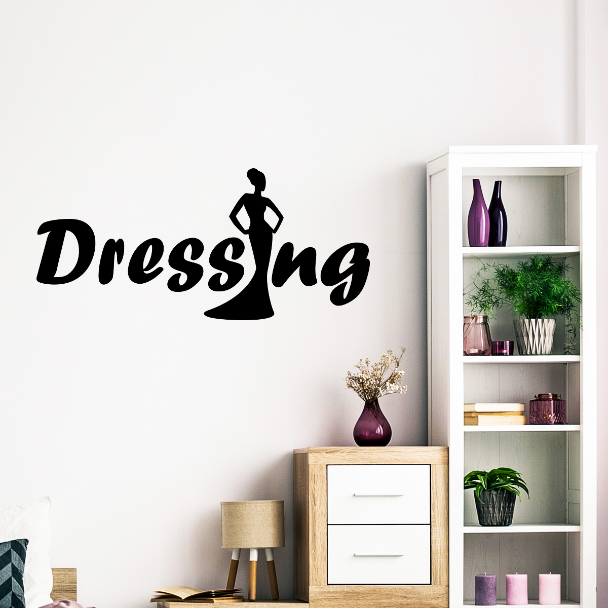Sticker dressing classe stickers chambre ado fille for Stickers porte dressing