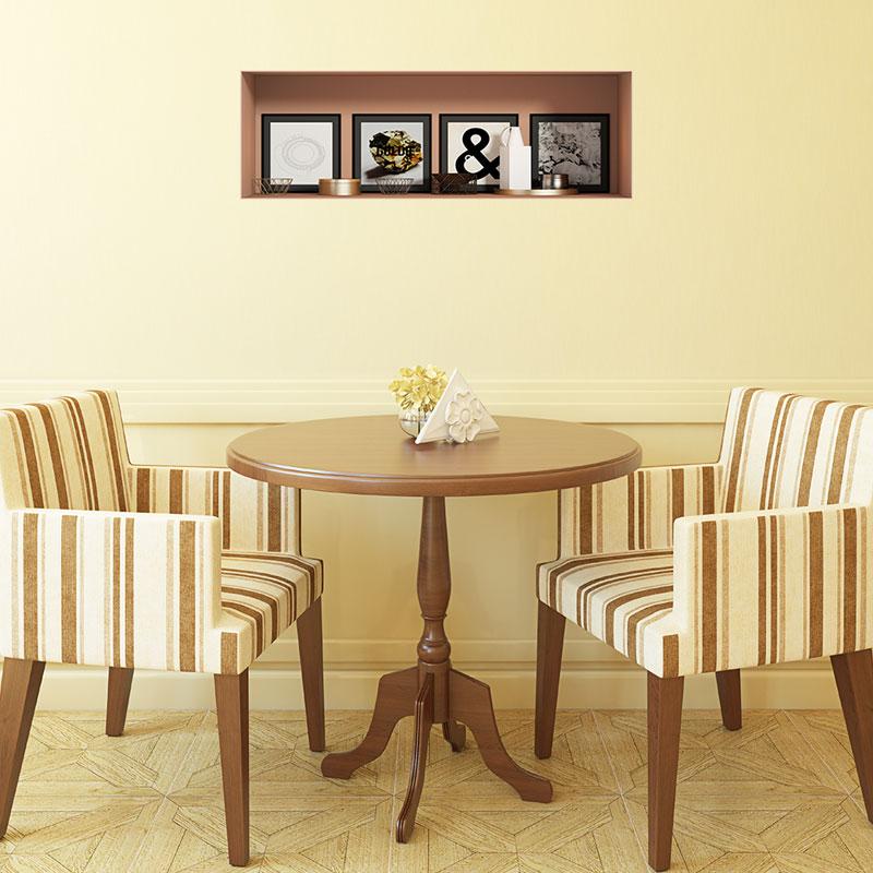 sticker effet 3d 4 cadres artistiques stickers art et design artistiques ambiance sticker. Black Bedroom Furniture Sets. Home Design Ideas