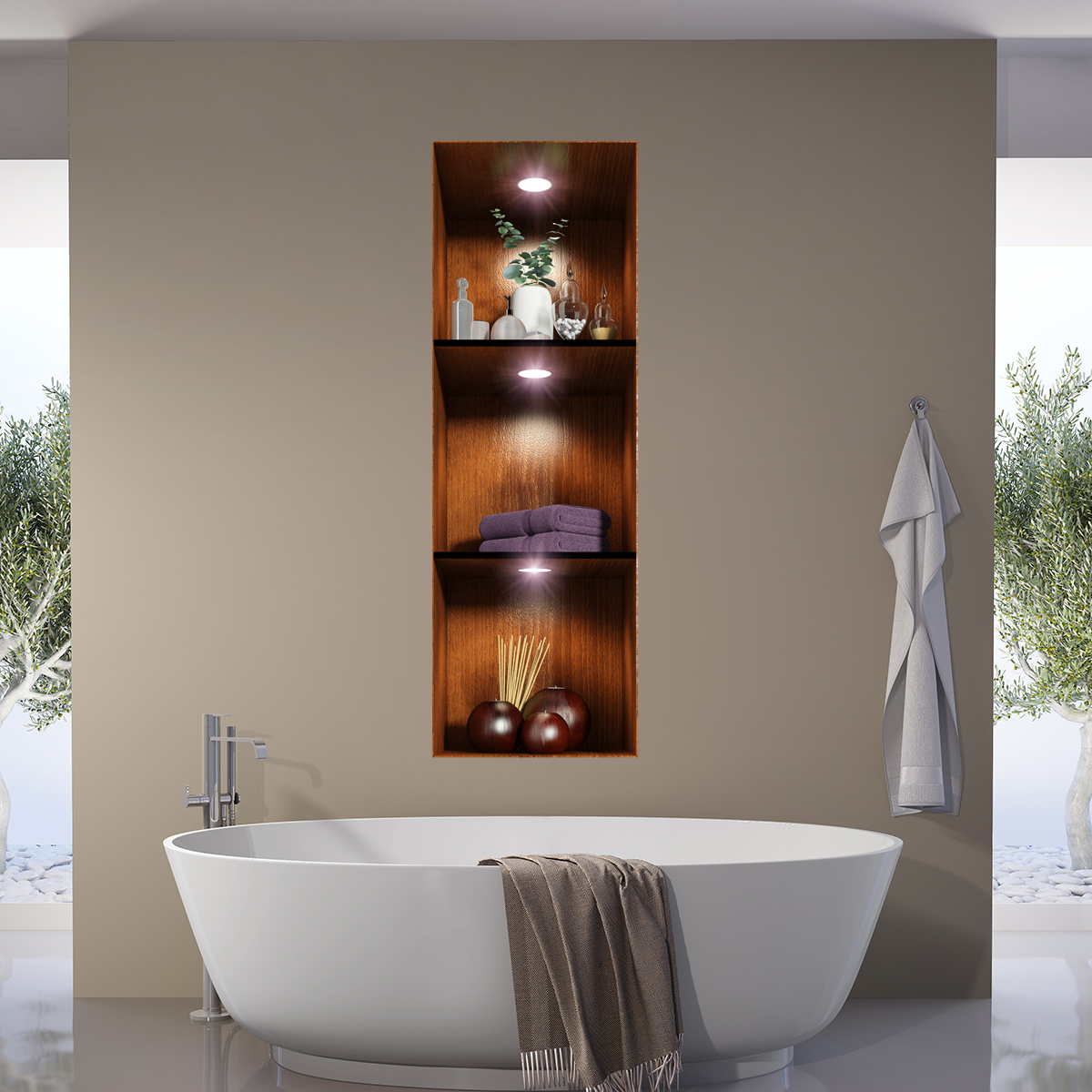 sticker effet 3d salle de bain ambiance spa stickers art et design artistiques ambiance sticker. Black Bedroom Furniture Sets. Home Design Ideas