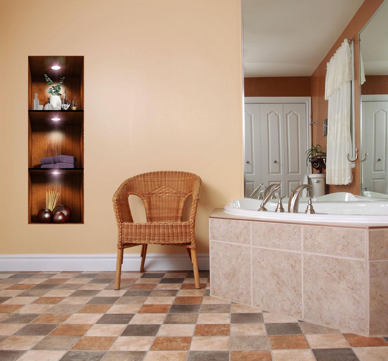 sticker effet 3d salle de bain ambiance spa stickers art. Black Bedroom Furniture Sets. Home Design Ideas