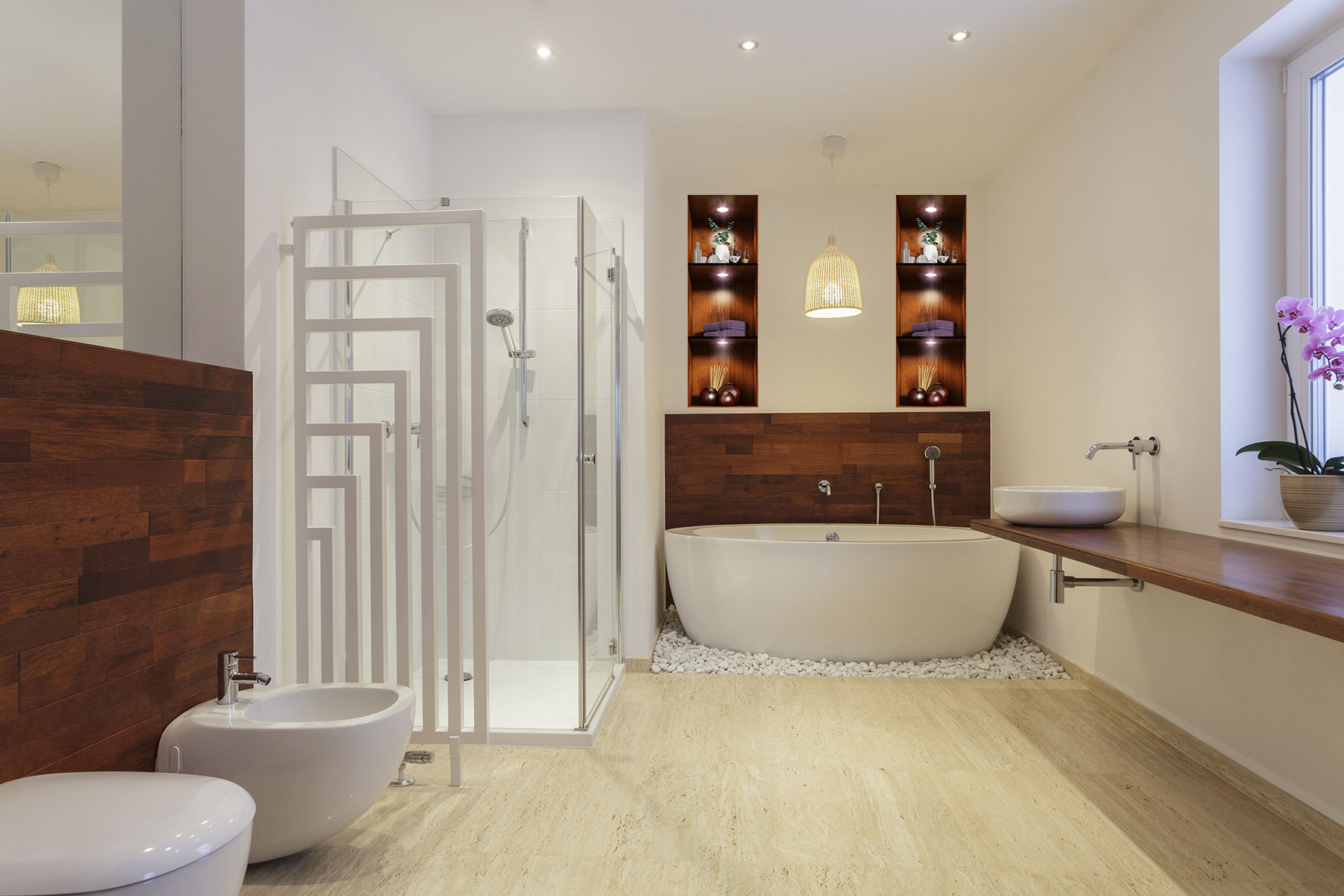Sticker effet 3d salle de bain ambiance spa stickers art for Salle bain 3d