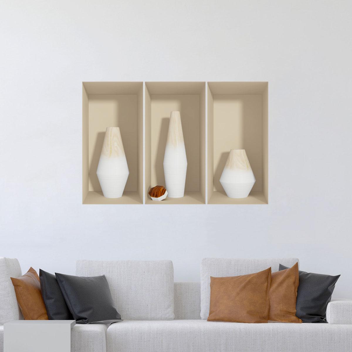 sticker vase sticker 3d ambiance. Black Bedroom Furniture Sets. Home Design Ideas
