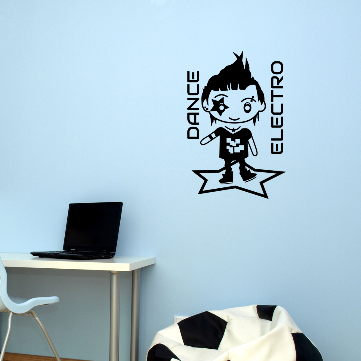 stickers muraux pour les enfants sticker electro dance. Black Bedroom Furniture Sets. Home Design Ideas